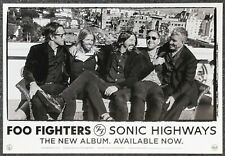 Foo Fighters Sonic Highways 2014 Double-sided Promo Poster