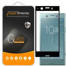 2X Sony Xperia XZ1 Compact Full Cover Tempered Glass Screen Protector (Black)