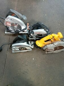 Lot Of 4 Circular Saws Untested For Refurb