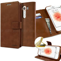 Leather Stand wallet Slim Flip case leather cover for iPhone SAMSUNG Galaxy LG