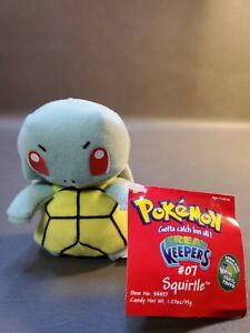 """VINTAGE 1999 4"""" Pokemon Treat Keepers #07 Squirtle Plush Toy Doll"""