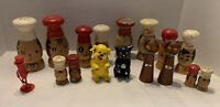 Vintage LARGE LOT Of 8 1940-1950s Salt and Pepper Retro Shakers Sets  Collection
