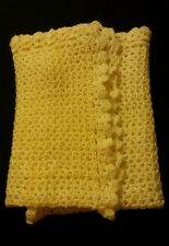 Neutral Gender Yellow Homemade Crocheted Baby Afgan