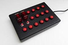 BBJ SIM RACING PC USB 'BABY Pro' 18 pulsante funzione di Rosso/Carbonio