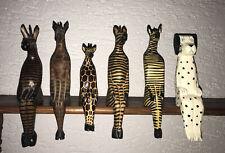 Kantenhocker Holz aus Südafrika Tiere