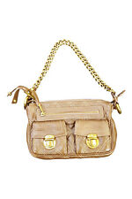 *MARC JACOBS* BROWN QUILTED MINI CHAIN HANDLE BAG (XS)