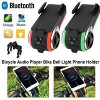 5in1 USB Fahrrad Licht Lampe mit Bluetooth Lautsprecher Powerbank Glocke Halter