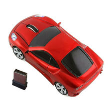 2.4G USB Ferrar Car shaped Wireless Computer Mouse for Laptop PC Mac Win10 US