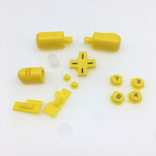 Yellow Replacement ABXY L R D-Pad Cross Button Full Buttons Set For DS Lite NDSL