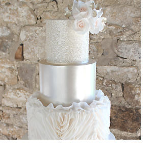 Edible Glitter Squares 7g - White Wedding Cakes Glitter Tier - Purple Cupcakes