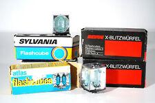 5 Packungen Sylvania/REVUE/atlas Flashcubes Blitzwürfel
