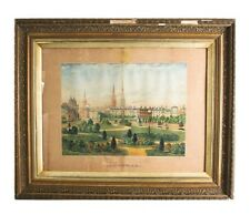 """""""Coventry"""" by Jesse Lee Watercolor on Paper 24"""" x 29"""" Some Damage, Antique!"""