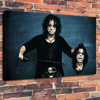 """Alice Cooper Printed Canvas Picture A1.30""""x20"""" 30mm Deep Heavy Metal , Rock God"""