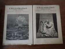 L'ILLUSTRATION Nr 1901 & 1902 (Aout 1879) NANCY statue Thiers et Feu artifice