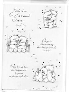 AEC21 Greetings Card , Anniversary , brother ,  sister in law , ruby , pearl ,