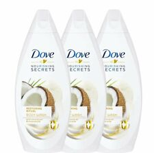(3-Pack) Dove Restoring Ritual Body Wash Coconut Oil Almond Milk Shower Gel...