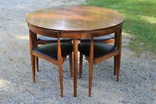 Vintage Mid Century Danish Modern Hans Olsen Winchendon Dining Table Chair Set