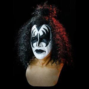 Kiss Band Gene Simmons Mask Cosplay Latex Mask Halloween Rock Costume Prop