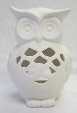 Owl Ceramic Tea Light Candle Holder Home Lighting Interior Decor Accessory BC242