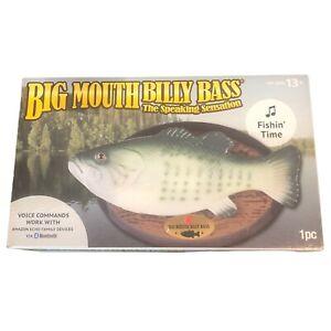 Big Mouth Billy Bass Singing Fish 2018 Fishin' Amazon Echo Bluetooth SEE VIDEO