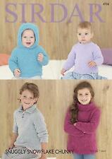 Sirdar 4726 Knitting Pattern Baby & Childrens Sweaters Snuggly Snowflake Chunky
