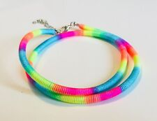 Chunky neon necklace, multicolour, bright, fun