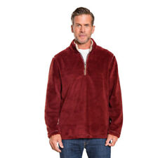 NEW! True Grit Pebble Pile 1/4 Zip Pullover Mens Size XS Extra Small - Spice Red