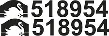 Canal and River Boat Trust Number | Vinyl Sticker Graphic | FREE POST | BB027