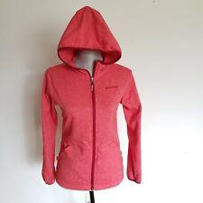 Columbia Fleece Hoodie Girls Jacket Size L  Red Zip Front