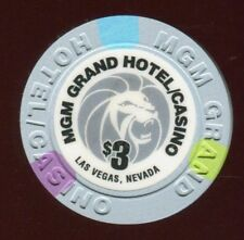 $3 Las Vegas MGM Poker Room Casino Chip - Uncirculated