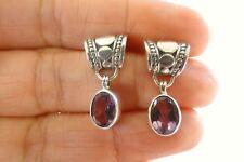 Purple Amethyst Solitaire 925 Sterling Silver Dangle Drop Stud Post Earrings