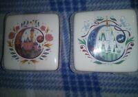 Disney Parks ABC Sleeping Beauty & Disneyland Castles Trinket Box C New Set of 2