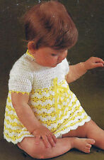 CROCHET BABY DRESS 18 / 20 INCH CHEST PATTERN            (481)