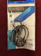 Owner Super Needle Point Saltwater Hooks 6/0 Black Chrome Finish