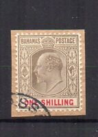Bahamas 1907 1s FU CDS FU CDS
