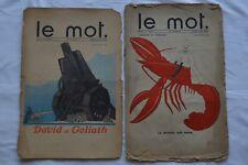 Le mot - Revues n° 1 à 20 - 1914/1915 - Complet - Dufy, Bakst, Iribe, Cocteau