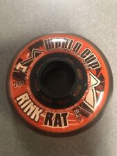 Rink Rat Wheels 76Mm 82a Worldcup Orange/Black Inline Indoor Hockey