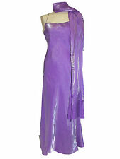 Debenhams Début Range lilac formal evening Dress with wrap size 10
