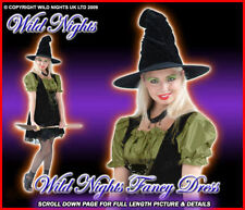Disfraz De Halloween Damas Sexy Sortilegio De Bruja / Sombrero tamaño 8-16
