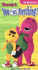 Barney s You Can Be Anything (VHS, 2002) Clam Shell Case