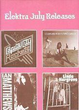 ELEKTRA JULY RELEASES promo 1973 ian matthews COURTLAND PICKETT linda hargrove