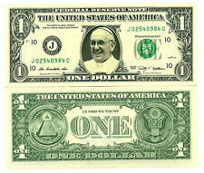 Le PAPE FRANCOIS - VRAI BILLET DOLLAR US! Collection Religion Catholique Eglise