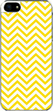 iPhone 5 Yellow Chevron Designed Sticker on Hard Case Cover