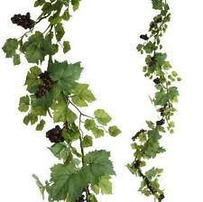 Grape Leaf & Grapes Garland  matching floral stem & wreath available too NEW RAZ