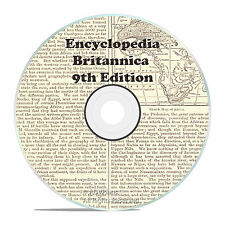 ENCYCLOPEDIA BRITANNICA, 9th Edition from 1875, 25 vol. vintage set of books DVD