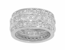 Eternity Wedding Band Ring In Platinum 6.00 ct Princess And Round Cut Diamond