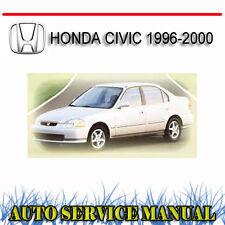 HONDA CIVIC 1996-2000 SERVICE REPAIR MANUAL ~ DVD