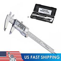 Steel Digital Caliper Vernier Micrometer Electronic Ruler Gauge Meter W/ Case US