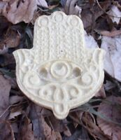 "Hamsa hand poly plastic mold plaster concrete resin mould 3.5"" x 3"" x 3/4"" thick"