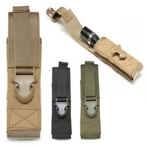 Outdoor Military Molle Pouch Tactical Flashlight Pouch Hunting Attachment Bags